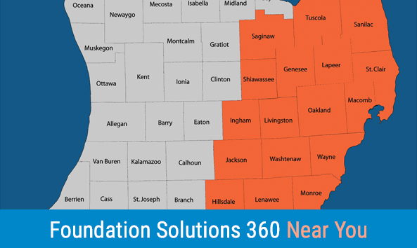 Service Area Map Foundation Solutions 360